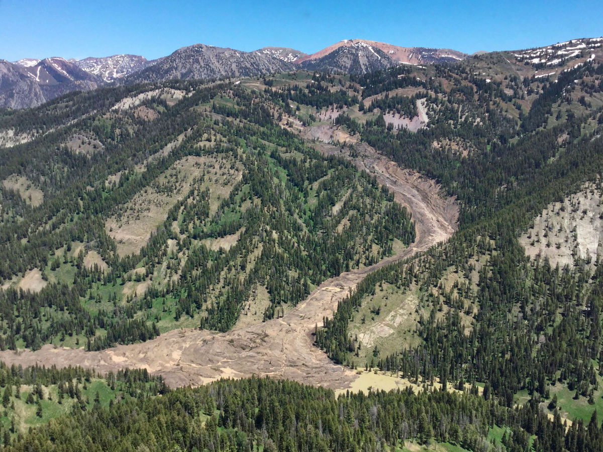 major landslide in the wyoming range this spring star valley weather